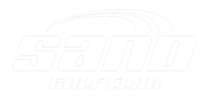Sand Golf Club logotyp vit